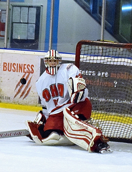Okanagan Ice Hockey Academy Junior UK net minder