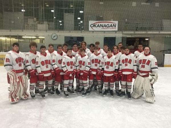 Okanagan Ice Hockey Academy Junior UK team photo